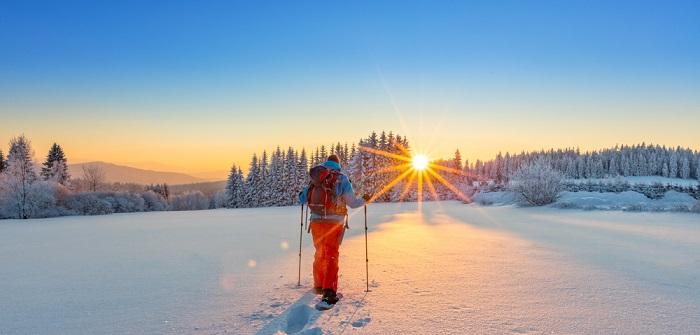 In den Schneeschuhen durch Auvergne